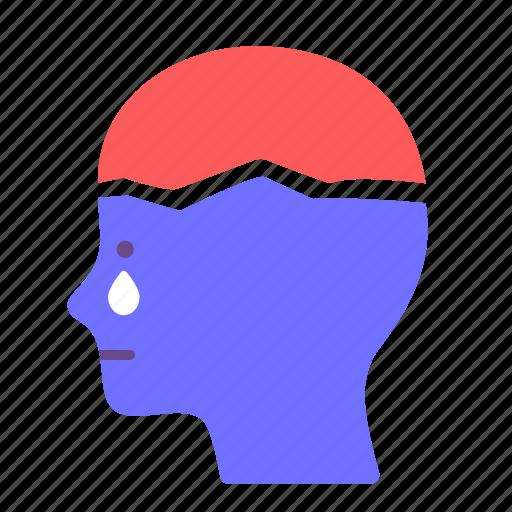 breakdown, depression, disorder, illness, mental health, stress, trauma icon