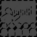 adviser, business, class, consultant, mentor, seminar, teaching icon