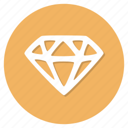 diamond, jewel icon