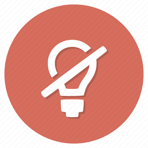 bulb, electricity, light, off, switch icon