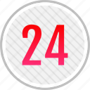 clean, count, four, number, twenty icon