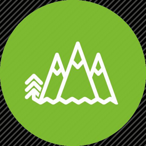 circle, climbing, green, landscape, mountain, nature, trip icon