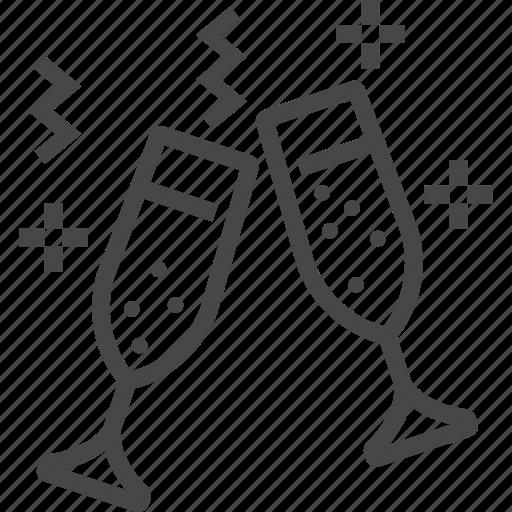 Celebration, champagne, glasses icon - Download on Iconfinder