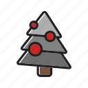 christmas tree, decoration, pine, tree, xmas icon