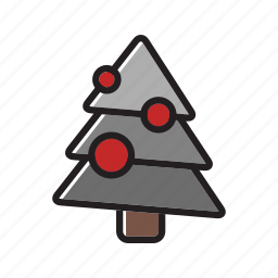 christmas tree, decoration, pine, tree, xmas icon