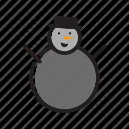 christmas, snow, snowman, winter, xmas icon