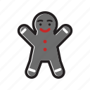 christmas, cookie, gingerbread, gingerbread cookie, gingerbread man, xmas icon