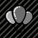 balloon, celebration, christmas, party, xmas icon