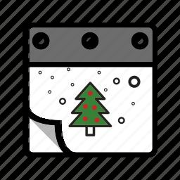 calendar, christmas, winter, xmas icon