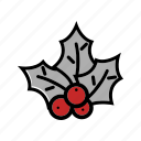 christmas, decoration, mistletoe, xmas icon