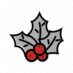 christmas, decoration, mistletoe, xmas icon