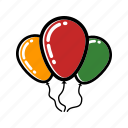 balloon, celebration, christmas, party, xmas icon