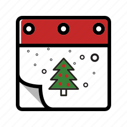 calendar, christmas, winter, xmas icon