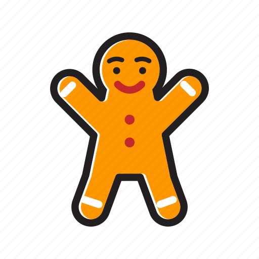 christmas, cookie, gingerbread, gingerbread cookie, gingerbread man icon