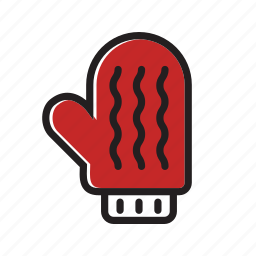 christmas, glove, warm, winter, xmas icon