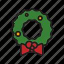christmas, decoration, ornament, wreath, xmas