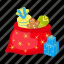 bag, christmas, gift, happy, new, santa, year