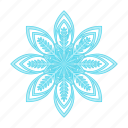 christmas, happy, new, snowflake, winter, year icon