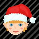 child, christmas, happy, hat, new, santa, year icon