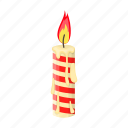 candle, christmas, flame, happy, holiday, new, year icon