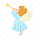 angel, christmas, happy, new, pipe, toy, year icon