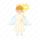 angel, christmas, happy, new, star, toy, year icon