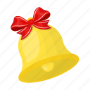 bell, bow, christmas, handbell, happy, new, year icon