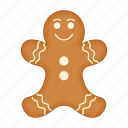 biscuits, christmas, food, gingerbread, happy, new, year icon