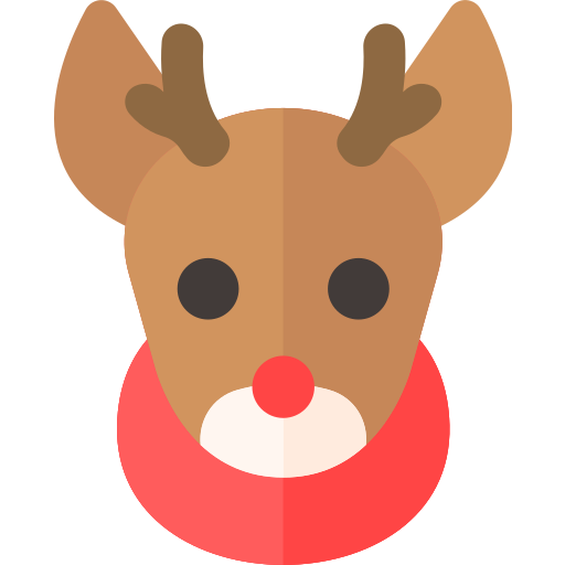 christmas, deer, holiday, reindeer, xmas icon