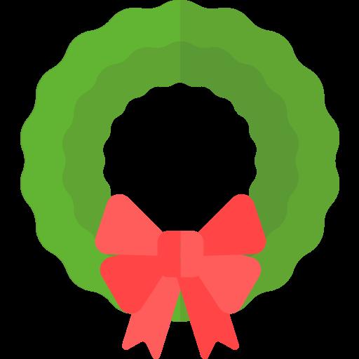 christmas, holiday, wreath, xmas icon