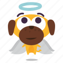 angel, dog, puppy icon