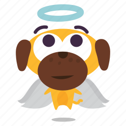 angel, dog, puppy icon