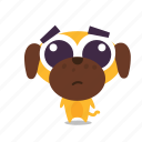 dog, pet, sad icon
