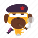 cigar, dog, emoji, revolution icon