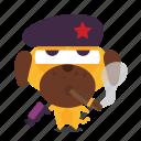 cigar, dog, emoji, revolution icon