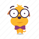 dog, emoji, geek, puppy icon