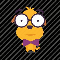 dog, emoji, geek, puppy icon