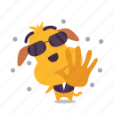 dog, emoji, matrix, neo icon