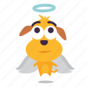 angel, dog, emoji, puppy icon