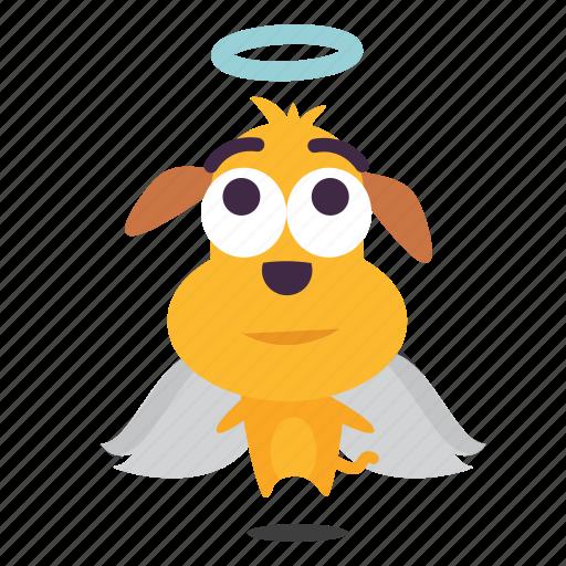 angel, dog, emoji, puppy icon