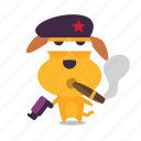 dog, emoji, puppy, revolution icon