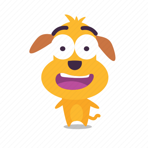dog, emoji, happy icon