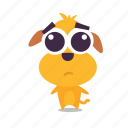 dog, emoji, sad icon