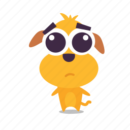 dog, emoji, sad icon
