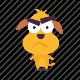 dog, puppy, suspicious icon