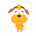 content, dog, emoji icon