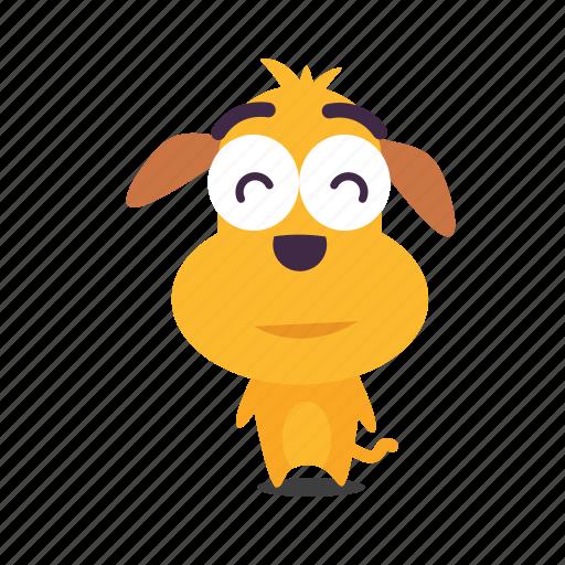 content, dog, emoji icon
