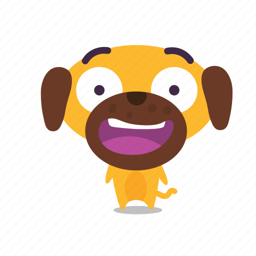 dog, pet, surprised icon