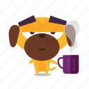 coffee, dog, mug icon