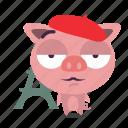 animal, paris, pig icon